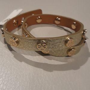 Tory Burch Jewelry - Double wrap logo bracelet